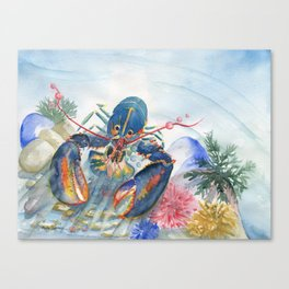 Under The Sea 2 - Lobster Canvas Print