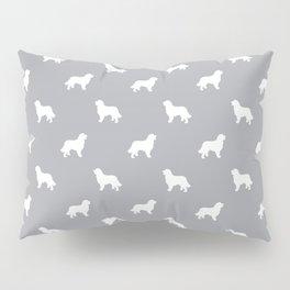 Bernese Mountain Dog pet silhouette dog breed minimal grey and white pattern Pillow Sham