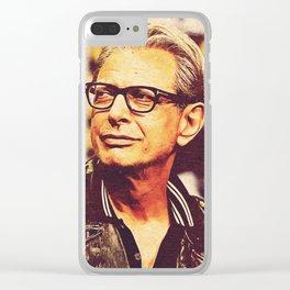 Jeff Goldblum Clear iPhone Case
