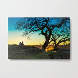 Lovers on Sunset Hill Metal Print
