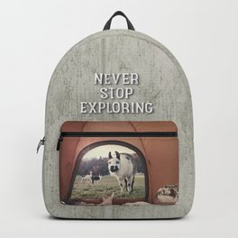 ALPACA  - CAMPING WITH FRIENDS Backpack