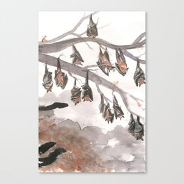 Thirteen Bats Canvas Print