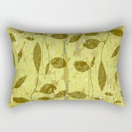 Golden leaves, textured marble leaf pattern Rectangular Pillow