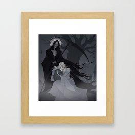 Drawlloween Grim Reaper Framed Art Print