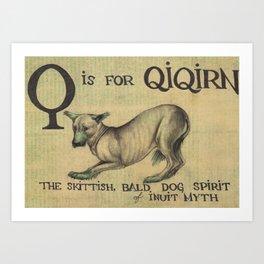 Alphabestiary Q - Qiqirn Art Print