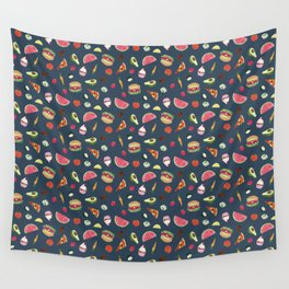 Yummy! (blue) Wall Tapestry