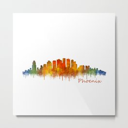 Phoenix Arizona, City Skyline Cityscape Hq v2 Metal Print
