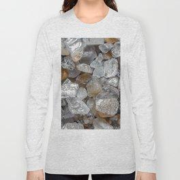 Singing beach sand under a microscope Long Sleeve T-shirt