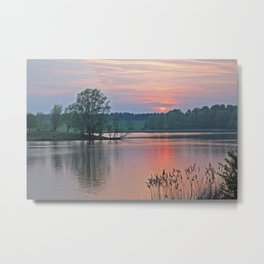 Willen Lake Sunset Metal Print