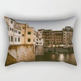 Ponte Vecchio at Dusk Rectangular Pillow