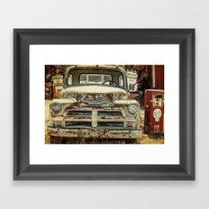 Vintage Truck Route 66 Framed Art Print