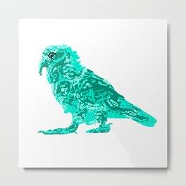 Kea Strut - Turquoise Metal Print