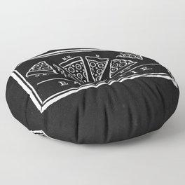 Eat, or Die (black) Floor Pillow
