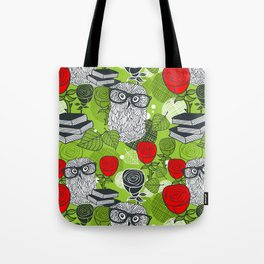 Owls and rose. Tote Bag