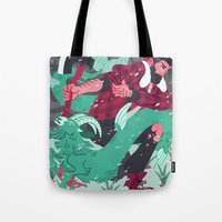 capricorn Tote Bags featuring Capricorn by Greg Wright
