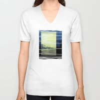 bridge V-neck T-shirts featuring Bridge by Neelie
