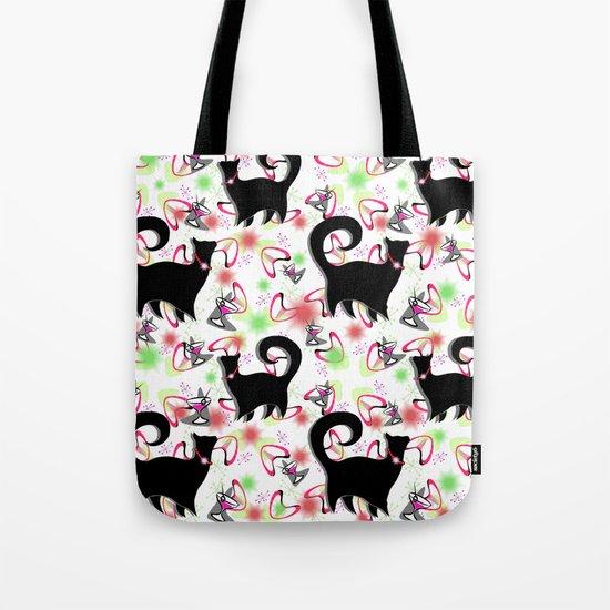 Retro Snobby Cats 2 Tote Bag