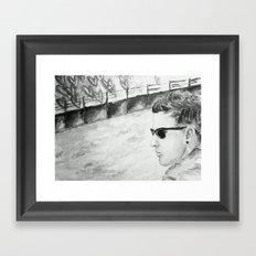 B/W I am not famous Framed Art Print