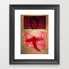 Girl behind the mirrors Framed Art Print