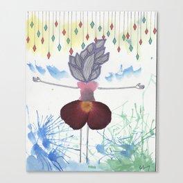 Flower Enamored  Canvas Print