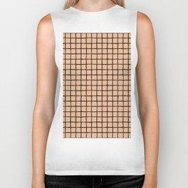 Geometric raster minimal raw brush strokes grid pattern apricot Biker Tank