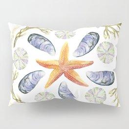 Tide Pool Beach Mandala 3 - Watercolor Pillow Sham