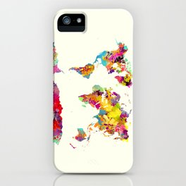 world map color art iPhone Case