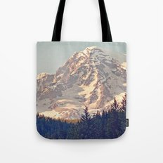 Mount Rainier Retro Tote Bag
