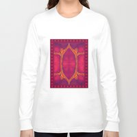 ashton irwin Long Sleeve T-shirts featuring Marburg virus tapestry- by Alhan Irwin by Microbioart