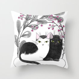 Pretty Kitties Throw Pillow