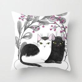 Pretty Kitties Throw Pillow