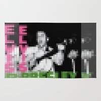 elvis presley Area & Throw Rugs featuring Elvis Presley - Elvis Presley - Pixel Cover by Stuff.