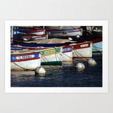 Boats pointu (6972) Art Print