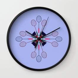 Badminton Racket and Shuttlecock Design Wall Clock