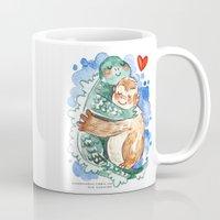 kaiju Mugs featuring Kaiju Hug by Super Group Hugs