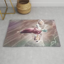 Ramen Alien Jesus Rug