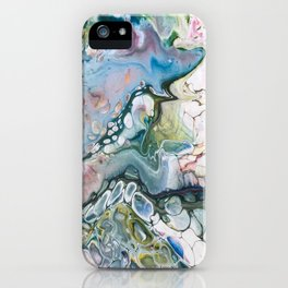 Sea and Land Acrylic Abstract Painting iPhone Case