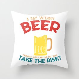 Beer beer tent beer lover gift Throw Pillow
