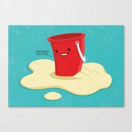 Damn Beach Canvas Print