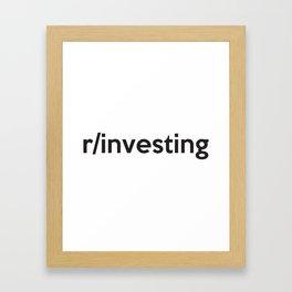 r/investing Framed Art Print