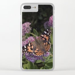 Painted Lady Butterfly Clear iPhone Case