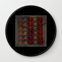 artsy Wall Clocks featuring Artsy by Terrell-ESS