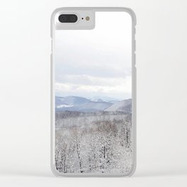 Winter in Transylvania Clear iPhone Case