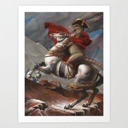 T. Rex Crossing the Alps Art Print