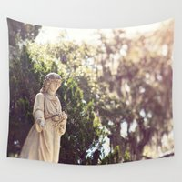 angel Wall Tapestries featuring Angel by Erin Johnson