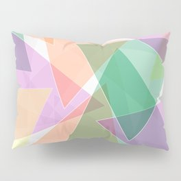Abstract pattern with triangles and vibrant colors Pillow Sham