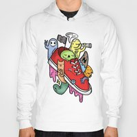 shoe Hoodies featuring shoe pirates by ybalasiano