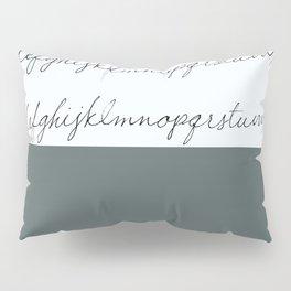 Alphabet-Grey Pillow Sham