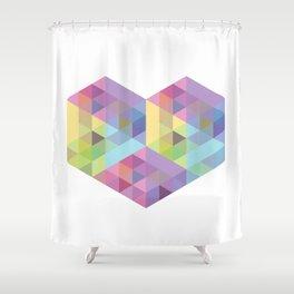 Fig. 028 Geometric Heart Shower Curtain