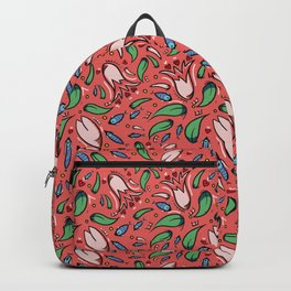 flower lily and fish Backpack